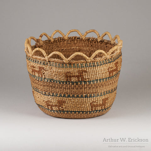 Quinault Basket with Dogs - Arthur W. Erickson - 1