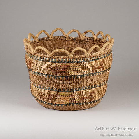 Quinault Basket with Dogs - Arthur W. Erickson - 2