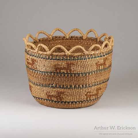 Quinault Basket with Dogs - Arthur W. Erickson - 3