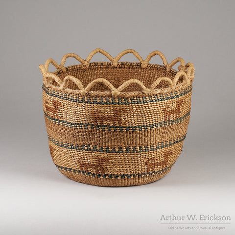 Quinault Basket with Dogs - Arthur W. Erickson - 4