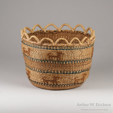 Quinault Basket with Dogs - Arthur W. Erickson - 5