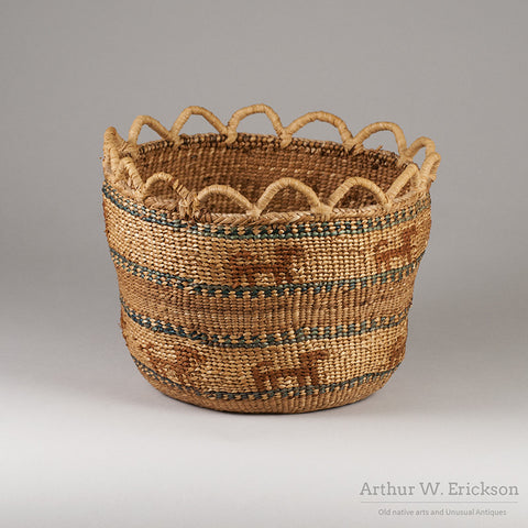 Quinault Basket with Dogs - Arthur W. Erickson - 6