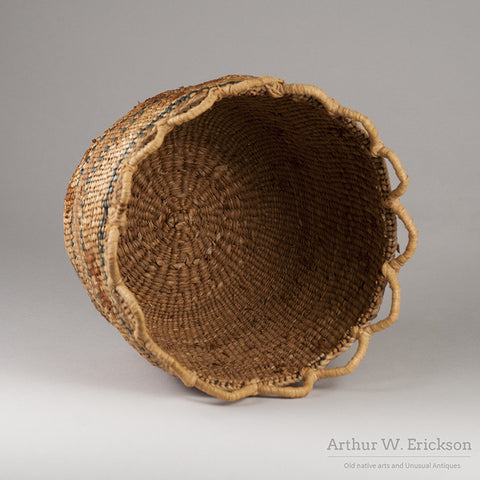 Quinault Basket with Dogs - Arthur W. Erickson - 7