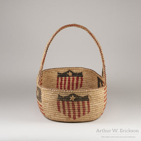 Quinault Patriotic 4th of July Basket - Arthur W. Erickson - 4