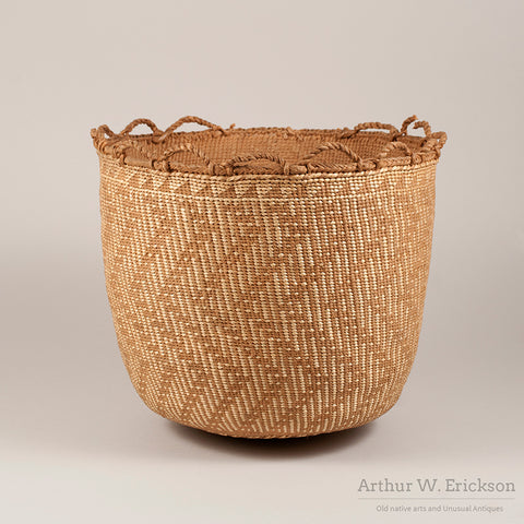 Quinault Basket with Loops