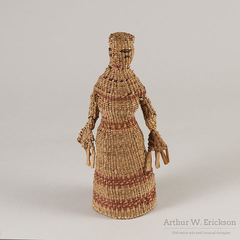 Chehalis Woven Basketry Doll - Arthur W. Erickson - 1