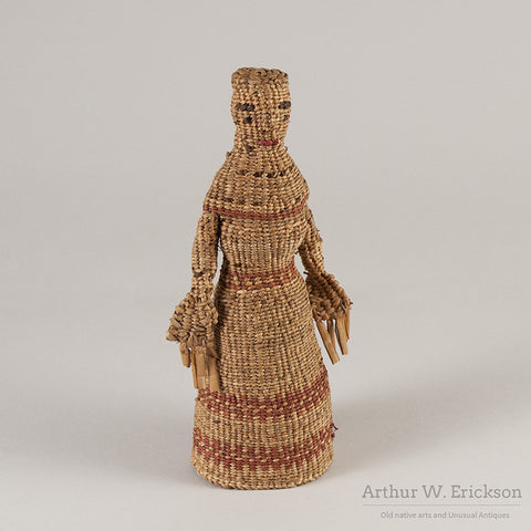 Chehalis Woven Basketry Doll - Arthur W. Erickson - 3
