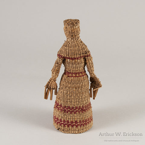 Chehalis Woven Basketry Doll - Arthur W. Erickson - 4