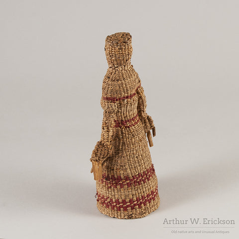 Chehalis Woven Basketry Doll - Arthur W. Erickson - 5