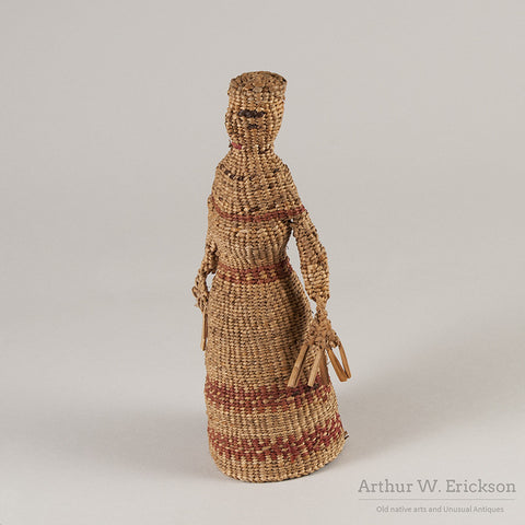 Chehalis Woven Basketry Doll - Arthur W. Erickson - 8