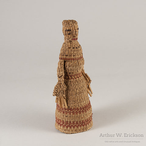 Chehalis Woven Basketry Doll - Arthur W. Erickson - 2