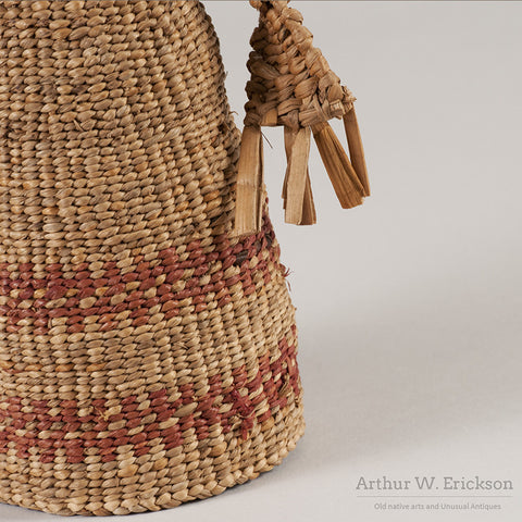 Chehalis Woven Basketry Doll - Arthur W. Erickson - 11