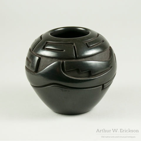 Santa Clara Blackware Jar by Vickie Martinez
