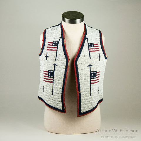Sioux Child's Vest with Eight Flags