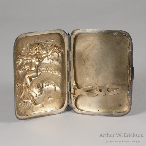 Unger Brothers Sterling Silver Cigarette Case - Arthur W. Erickson - 5