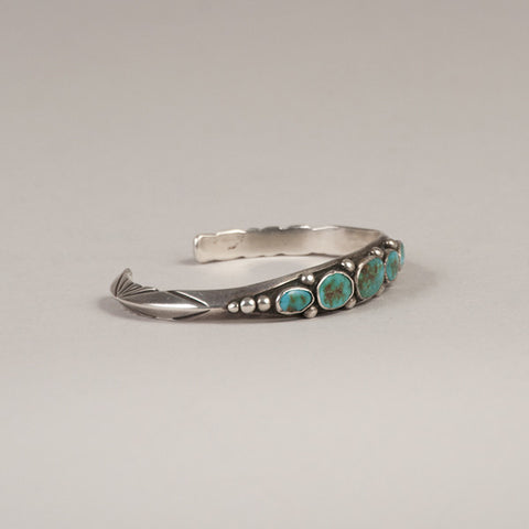 UITA Navajo Sterling Silver and Turquoise Bracelet - Arthur W. Erickson - 2