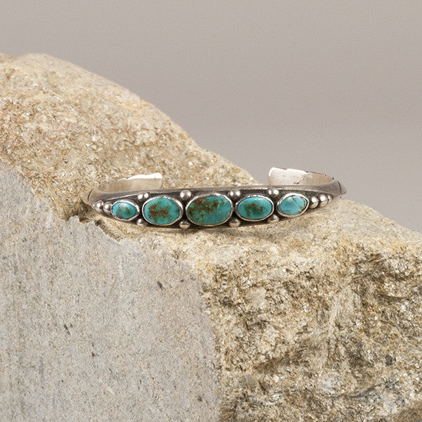UITA Navajo Sterling Silver and Turquoise Bracelet - Arthur W. Erickson - 1