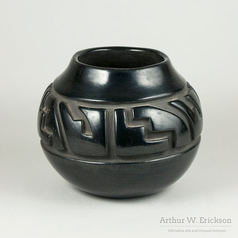 Santa Clara Incised Blackware Jar