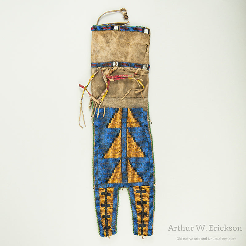 Unusual 19th C Pipe Bag Collected by Col. George A Forsyth
