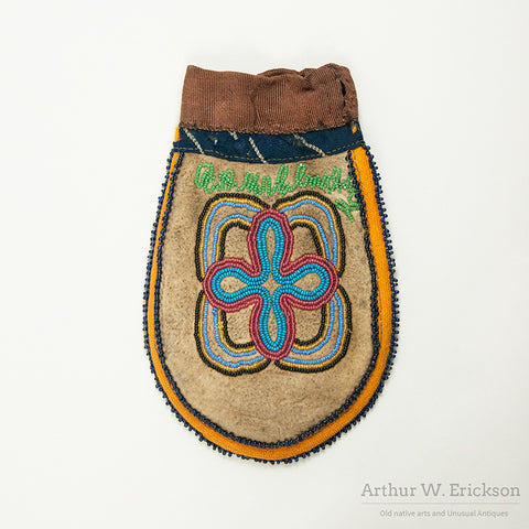 "Unusual Beaded ""U"" Shaped Bag"
