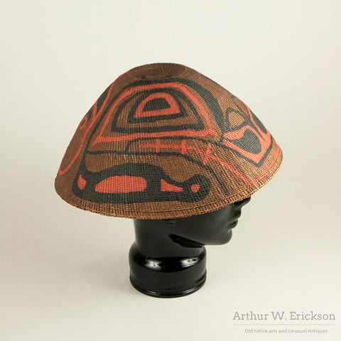 Nuu-chah-nulth Painted Rain Hat
