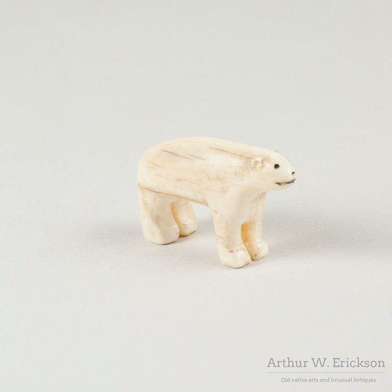 Eskimo carved Ivory Polar Bear