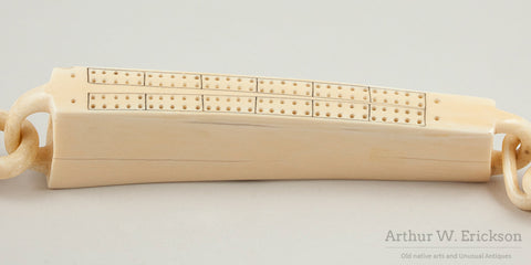 Ivory Walrus Linked Cribbage Board