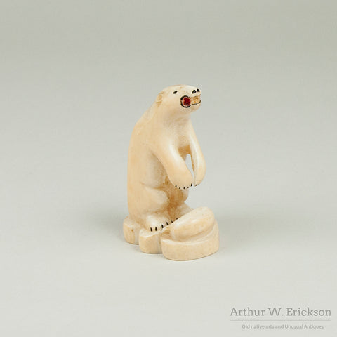 Walrus Ivory Polar Bear with Seal