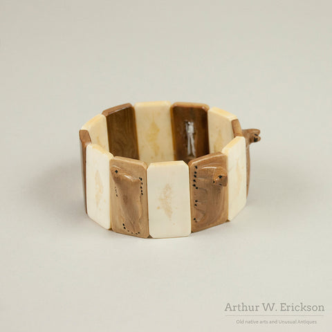 Carved Walrus Ivory Expansion Bracelet