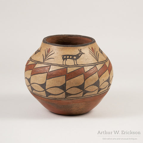 Zia Olla with Antelope and plant Design - Arthur W. Erickson - 3