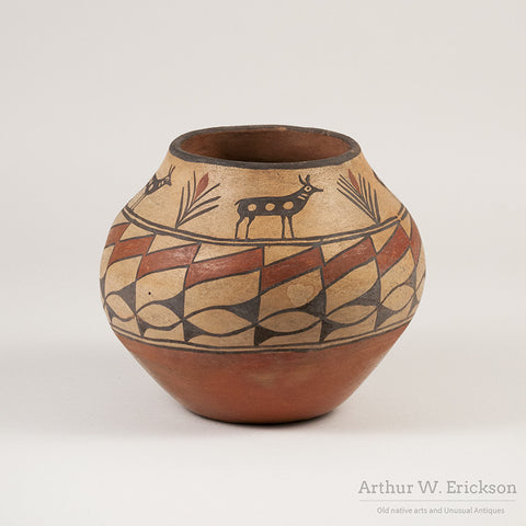 Zia Olla with Antelope and plant Design - Arthur W. Erickson - 4