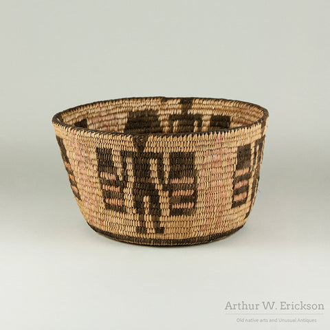 Pima /Papago basket with standing figures