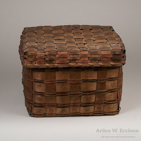 Eastern Algonkian Plaited Wood-Splint Basket