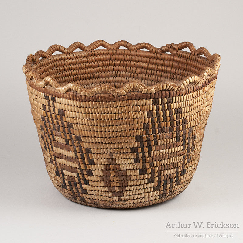 Puget Sound Fully Imbricated Basket - Arthur W. Erickson - 1
