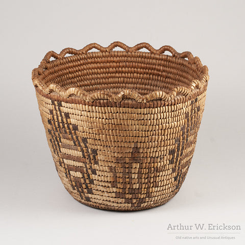 Puget Sound Fully Imbricated Basket - Arthur W. Erickson - 4