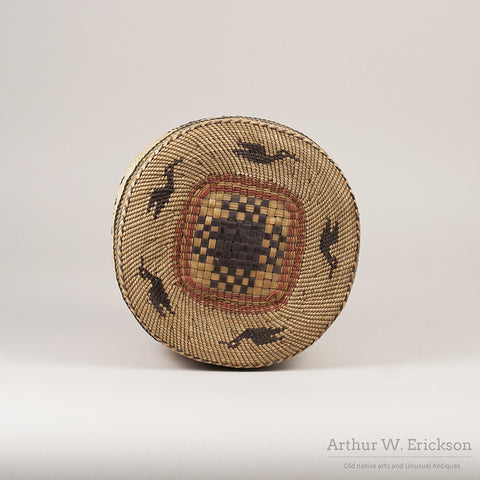 Large Makah Lidded basket with Birds - Arthur W. Erickson - 2