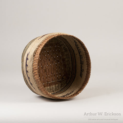 Large Makah Lidded basket with Birds - Arthur W. Erickson - 4