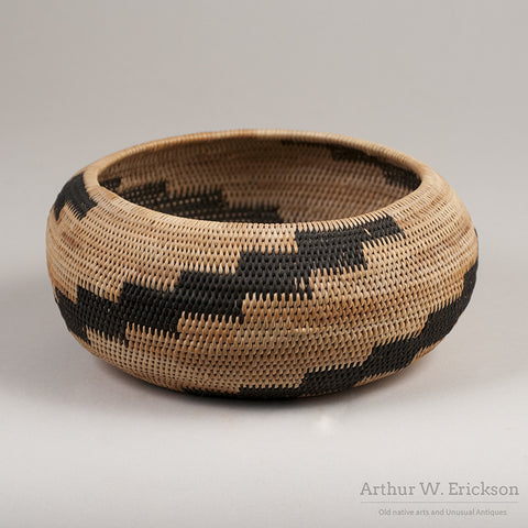 Pomo Single Rod Basket - Arthur W. Erickson - 1