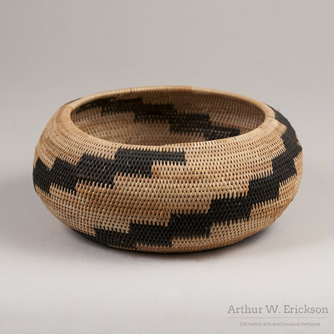 Pomo Single Rod Basket - Arthur W. Erickson - 2