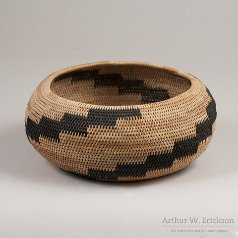 Pomo Single Rod Basket - Arthur W. Erickson - 4