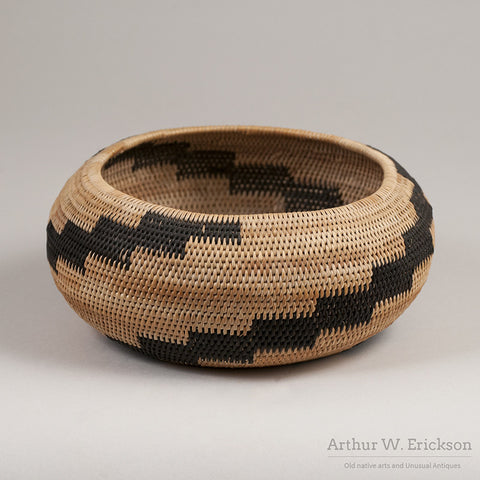 Pomo Single Rod Basket - Arthur W. Erickson - 5