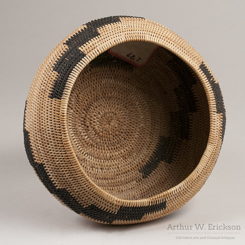 Pomo Single Rod Basket - Arthur W. Erickson - 6