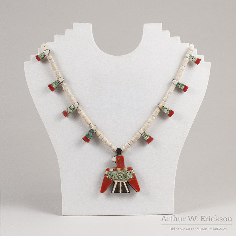 Santo Domingo Thunderbird Necklace - Arthur W. Erickson - 1