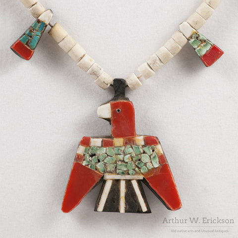 Santo Domingo Thunderbird Necklace - Arthur W. Erickson - 4