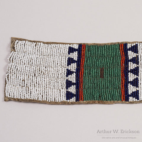 Sioux Beaded Blanket Strip - Arthur W. Erickson - 4