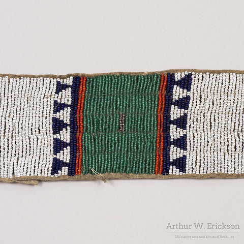 Sioux Beaded Blanket Strip - Arthur W. Erickson - 6