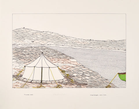 Untitled, Tent by the water