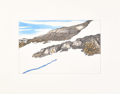 Untitled, Rocky hills and snow