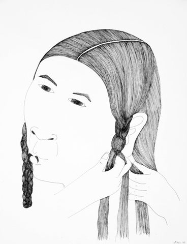Untitled (Braiding Hair)