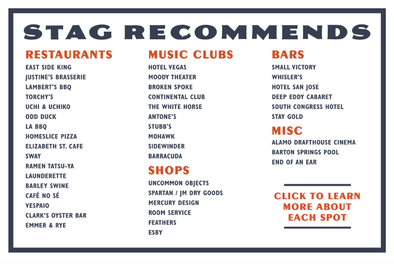Stag Recommends Sxsw 2017